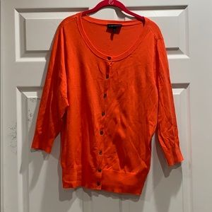 New Lane Bryant Orange Cardigan Sweater 14/16